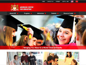 Corporate website for The American Center for Education