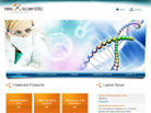 Corporate website design for Ark Scientific Pte Ltd