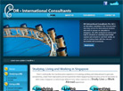 Corporate website design for DR International Consultants Pte Ltd
