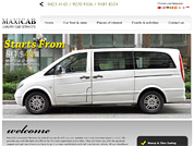 Corporate website for Maxi Cab