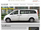 Corporate website design for Maxi Cab