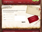 Corporate website design for Mimosa