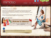 Corporate website for Mimosa
