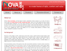 Corporate website design for Nova Furnishing Pte Ltd