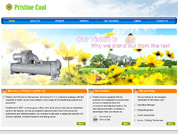 Corporate website for Pristine Cool Pte Ltd